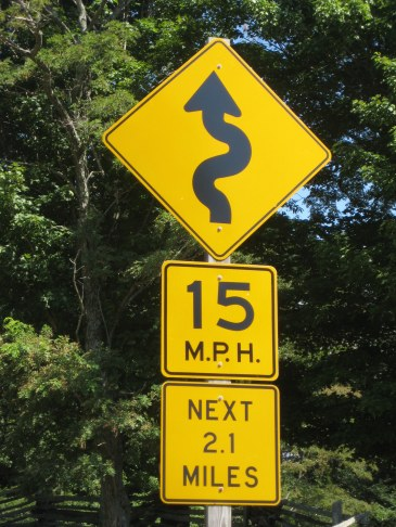 One of many signs like this along Rt 58 in VA